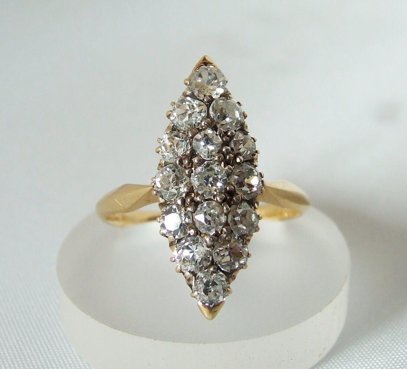 Antieke gouden ring met briljanten kopen? De mooiste ring   Christian