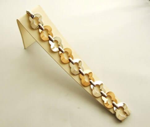 Bicolor gouden fantasie armband