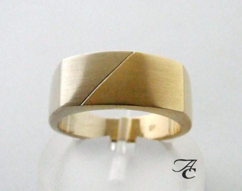 Gouden bicolor ring