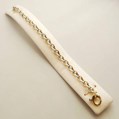 Gouden bi-color armband