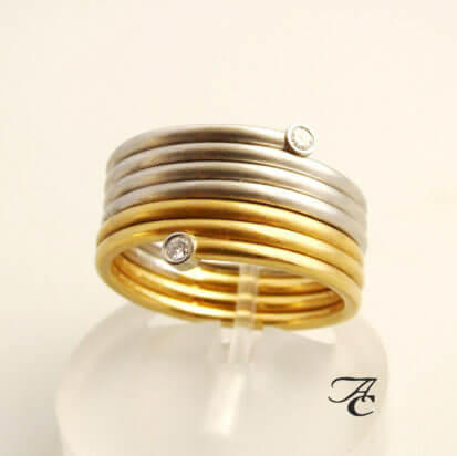 Bicolor Atelier Christian diamanten ring