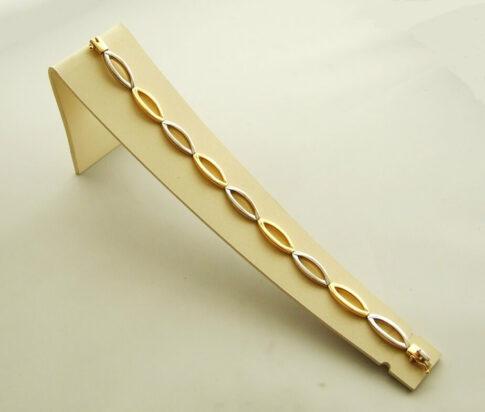 14-karaat-geel-en-witgouden-armband