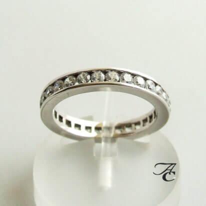 Atelier Christian wit gouden ring met zirkonia