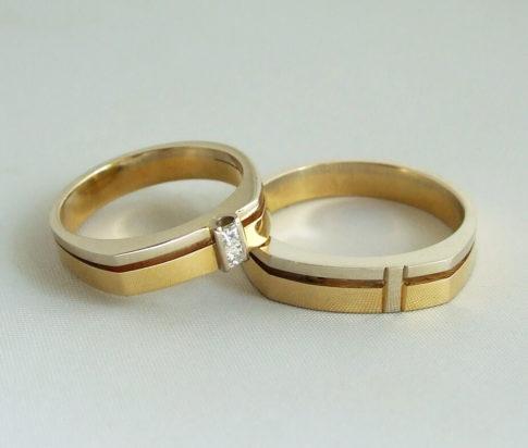 Geel- en wit gouden trouwringen