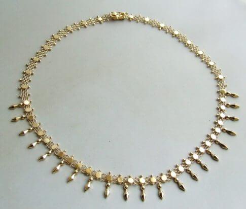 Occasion geel gouden collier