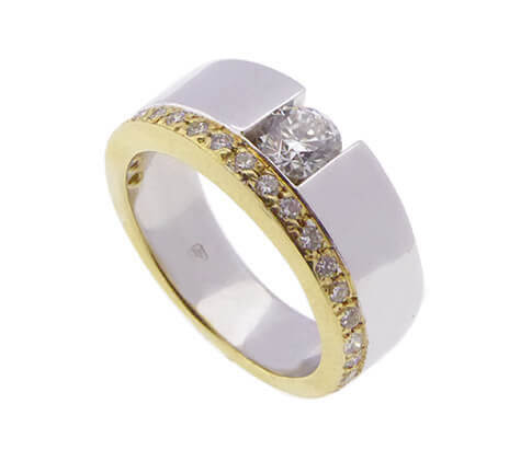 Atelier Christian bicolor ring met diamant