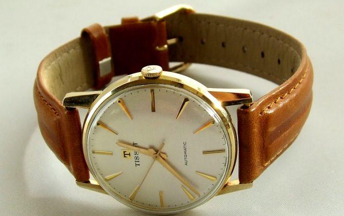 Gouden tissot horloge atelier christian for Horloge atelier
