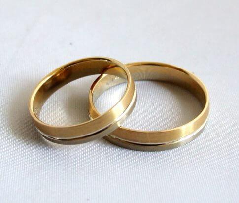 Geel gouden trouwringen