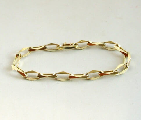 Gouden closed forever armband
