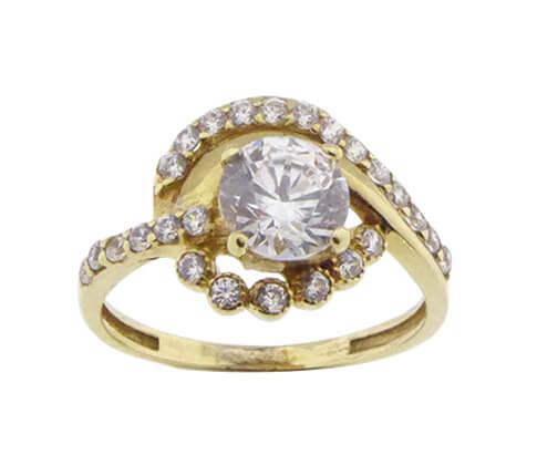 Christian geel gouden zirkonia ring
