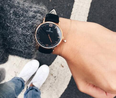 Kapten en Son horloge All Black Vintage Campina 4251145221522