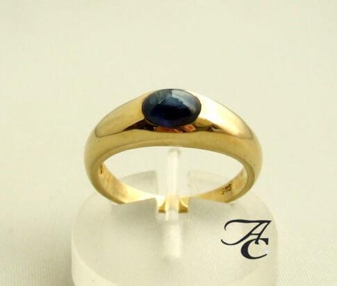 Gouden saffieren ring