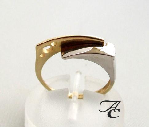 Bicolor gouden ring fantasie
