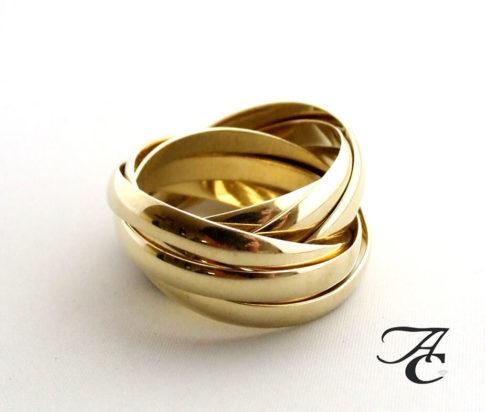 Gouden duimring van 8 ringen