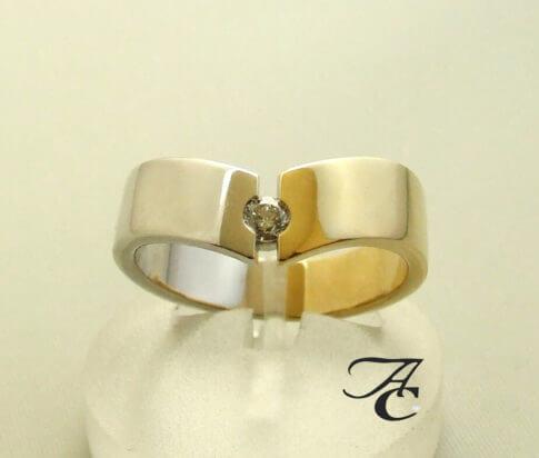 Bicolor diamanten ring Atelier Christian