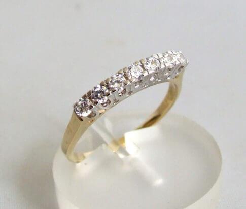 Occasion 14 karaat gouden zirkonia ring