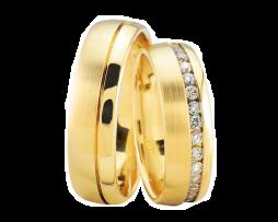 Gouden trouwringen met 37 diamanten