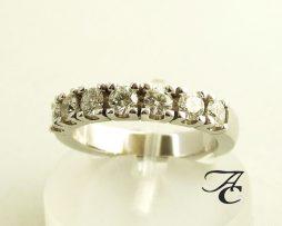 Gouden memoire ring met diamant