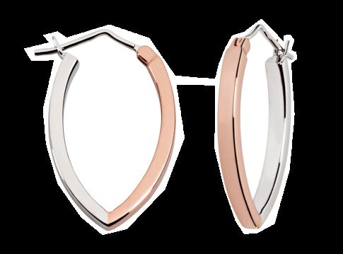 Bicolor oorbellen