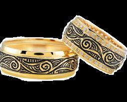 Gouden trouwringen Oosters model