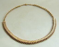 Antieke gouden collier