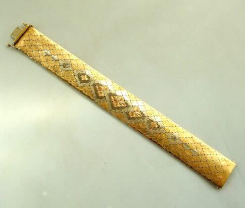 18 karaat gouden tricolor armband