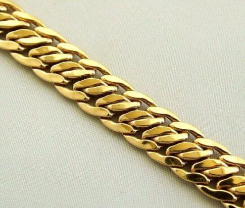 14 karaat geel gouden occasion armband