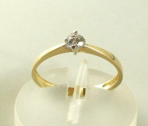 Atelier Christian 14 karaat gouden ring met zirkonia