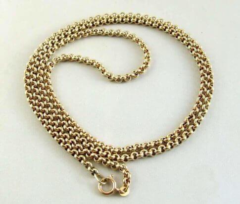 Geel gouden jasseron collier