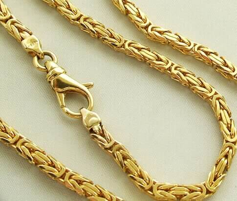 14 karaat geel gouden koningsketting