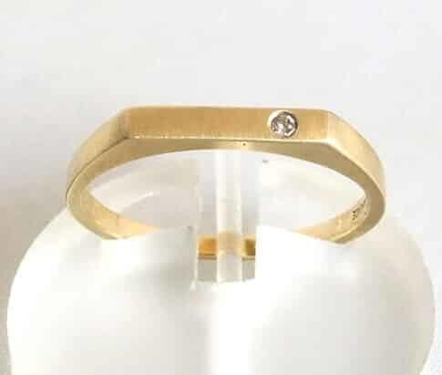 Geel gouden diamanten ring
