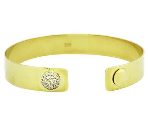 Gouden armband met zirkonia 4