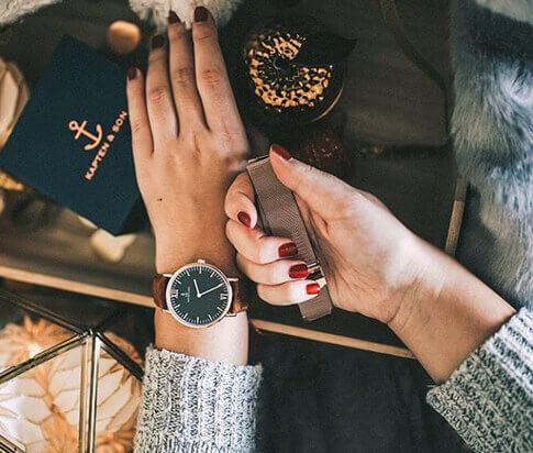Kapten en Son horloge Black Brown Vintage Leather Campus 4251145223571