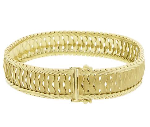 14 karaat gouden schakelarmband