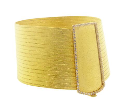 22 karaat gouden zirkonia slavenarmband