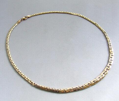 Bicolor gouden collier