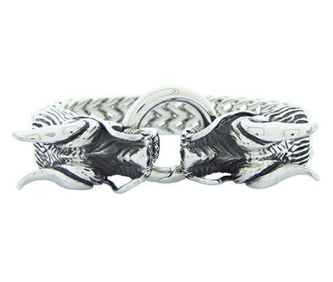 Christian Dragon Bracelet Steel