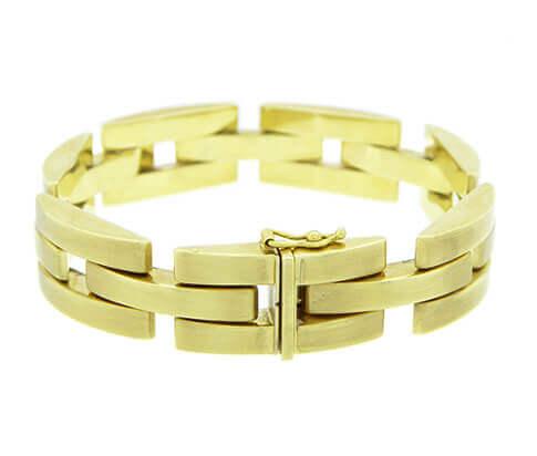 Geel gouden schakelarmband