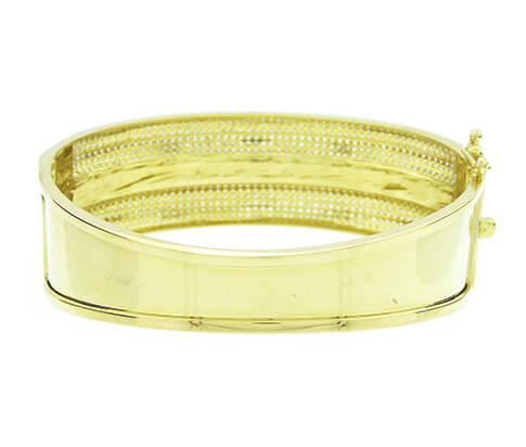 Christian 14 karaat geel gouden armband met zirkonia