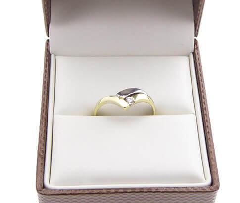 Christian bicolor zirkonia ring