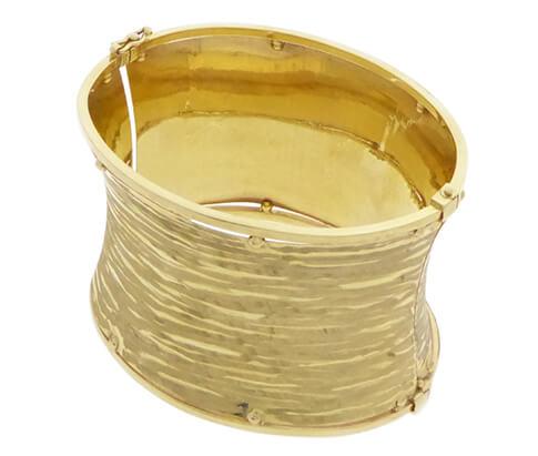Geel gouden slavenarmband Christian