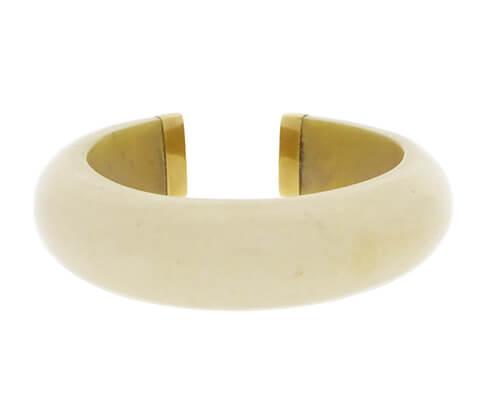 Ivoren armband met goud