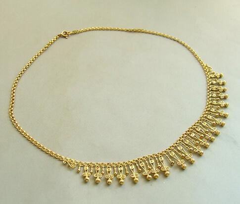 Antieke geel gouden collier