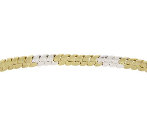 Christian bicolor schakelarmband