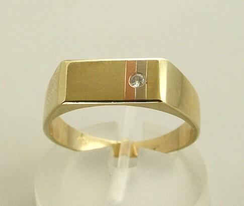 Tricolor diamanten ring