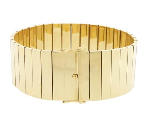 14 karaat geel gouden schakelarmband