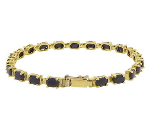 Gouden armband met saffier