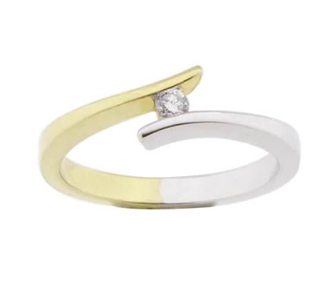 Christian bicolor fantasie briljanten ring