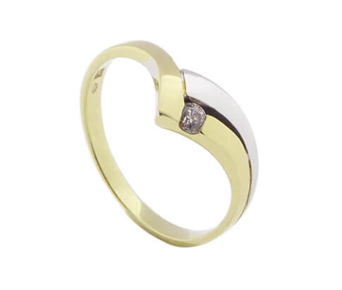 Christian bicolor zirkonia ring
