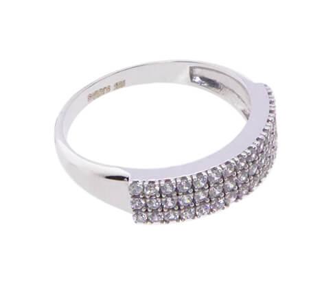 Wit gouden zirkonia ring